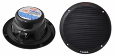 "Pyle (PLMR605B) Hydra, 6 1/2"" Dual Cone Marine Speakers (Black) (Pair)"