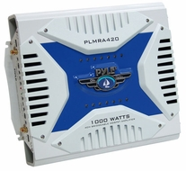 Pyle (PLMRA420) Hydra, 4 Channel 1000 Watt Waterproof Marine Bridgeable Mosfet Amplifier
