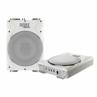 "Pyle (PLMRBS10) Hydra, 10"" 1000 Watts Low-Profile Super Slim Active Amplified Marine/Waterproof Subwoofer System"