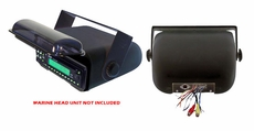 Pyle (PLMRCB3) Hydra, Universal Marine Stereo Housing w/Full Chassis Wired Casing (Black)