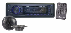 Pyle (PLMRKT12BK) Hydra, IN-Dash marine AM/FM PLL Tuning Radio w/ USB/SD/MMC Reader