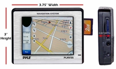 Pyle (PLNV35) 3.5'' Touch Screen Universal Portable GPS Navigation w/USA/Canada Mexico Maps