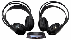 Pyle (PLVWH6) Dual Wireless IR Mobile Video Stereo Headphones w/Transmitter