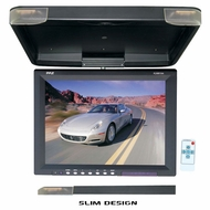 "Pyle (PLVWR1544) 15.1"" Flip Down Roof Mount TFT LCD Monitor & IR Trasnmitter"
