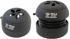 Pyle (PMS5DB) Bass Expanding Rechargeable Dual Mini Speakers for iPod/MP3 (Black)