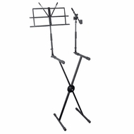 Pyle Pro (PKS30) Keyboard Stand with Music Stand and Microphone Boom