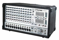 Pyle Pro (PMX1206) 12 Channel 1000 Watts Powered Mixer