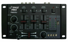 Pyle Pro (PMX5U) Professional 2-Stereo Channel DJ Mixer W/ USB Player