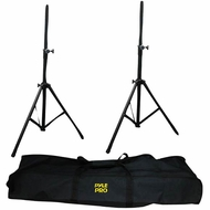 Pyle Pro (PSTK103) Heavy-Duty Aluminum Anodizing Dual Speaker Stand with Traveling Bag Kit