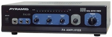 Pyramid (PA105) 80 Watt Microphone AC & DC 12 Volt PA Amplifier w/70V Output & Mic Talkover