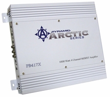 Pyramid (PB417X) 1000 Watt 4 Channel Bridgeable MOSFET Amplifier
