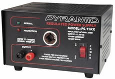 Pyramid (PS15K) 10 Amp Power Supply w/Cigarette Lighter Plug