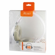 Reiko (HS1500-35MMMIC) White, 3.5MM, Stereo Earphone for Iphone/Ipod with Mic