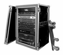 (RR18UADSW) 18U Amplifier Deluxe Case - 18 Inch Shock Mount with Caster Board
