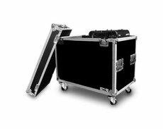 (RR2MH250C) Moving Head Lighting Case for 2 X Type 250 Heads In Hanging Position w/ Caster Board