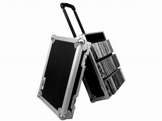 (RRCD100HW) 100 CD Case with Pull-Out Handle and Wheels