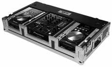 "(RRCDJDNS10W) 10"" Mixer Coffin with Wheels for Pioneer CDJ200/ CDJ350/ DJM400/ DJM909, Denon Dns1000 and More"