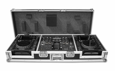 (RRDJ2000W) Coffin Case for Two CDJ 2000 CD Players and a Pioneer DJM 2000 Mixer with Wheels