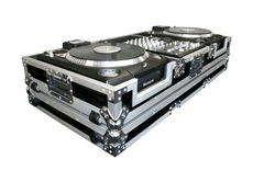 "(RRDJCDX10W) 10"" Mixer Coffin with Low Profile Wheels for 2 Numark CDX or HDX Turntables"