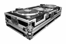 """(RRDJCDX12W) 12"""" Mixer Coffin with Low Profile Wheels for 2 Numark CDX or HDX Turntables"""