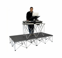 (RRDJPAK16) Carpeted Portable Dj Platform with Fold