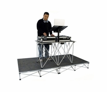 (RRDJPAK8) Carpeted Portable Dj Platform with Fold