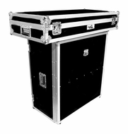 (RRDJSTAND) DJ Stand for Coffins with Built in Shelf - Folds Down for Easy Transport