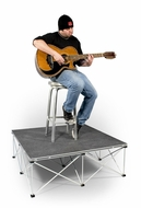 "(RRGTR16C) 4'x4' Carpeted Platform 16"" High - Elevates Guitar Player Above Crowd During Performance"