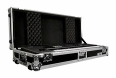 (RRKB61W) 61 Key Board Case with Adjustable Z-Lock Foam and Low Profile Wheels