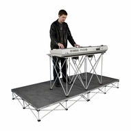"(RRKEYPAK8C) 4'x8' Carpeted Keyboard Platform 8"" High - Comes with 30"" High Folding Table"