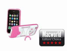 Scosche (IP3KPC) Hybrid case for iPhone 3G S and iPhone 3G - (Pink/Clear)