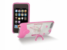 Scosche (IT3KPC) Hybrid case for iPod touch (Gen 3) - (Clear/Pink)