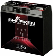 Shuriken (SK-BT20) High Performance Battery with 20AH and 850 Crank Amps