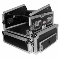 ProX Cases (T-4MRSS) 4U Space Amp 10U Slanted Top Mixer DJ Combo Road Gig Ready Flight Case