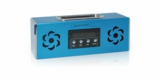 Technical Pro (BoomBox2) Portable Battery Powered Speaker with iPod Loading Dock & USB Input, Blue