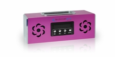 Technical Pro (BoomBox2) Portable Battery Powered Speaker with iPod Loading Dock & USB Input, Pink