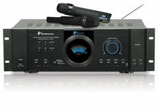 Technical Pro (IAW852) 2500W Integrated Amp with Dual Wireless Mics