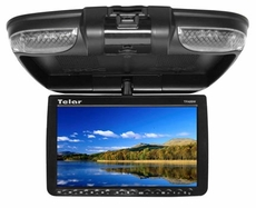 "Telar (TFA89W) 8.9"" Overhead Roof Mount Flip Down Monitor with Built in DVD Player"