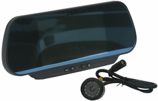 """TKO (BH-BVM-C26) Rear View Mirror with Built-in 6"""" TFT-LCD Monitor and Back-up Camera"""