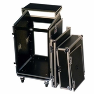 Tov (T-16MRLT) 16U Vertical Rack 10U Slant Mixer Combo Case w/ Laptop Shelf
