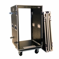 "Tov (T-18RSS) 18U Space DJ Gear Amp Rack 19 Deep Case w/ 4"" Caster"
