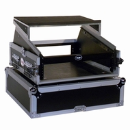 Tov (T-2MRLT) 2U Vertical Rack 10U Slant Mixer Combo Case w/ Laptop Shelf