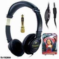 Trisonic (TS-YK2000) Prof. Sound Stereo Headphones W/ Super Bass & Volume Control