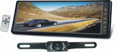 Tview (RV102C) 10.2-Inch Tft Lcd Rear View Mirror Monitor With A Back Up License Plate with Night Vison & Water Proof
