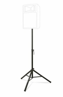 Ultimate Support (TS-70B) Aluminum Tripod Speaker Stand with Safe and Secure Locking Pin and 150 lb Load Capacity - Black