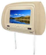 "Zicom (ZHD700-SD) Dual Universal Headrest Monitors with 7"" Wide Screen LCD, Multimedia DVD Player, Skins Covers, USB and SD Ports"