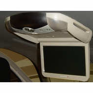 "Rosen (ZR10) 10.2"" Overhead Flip Down Monitor with Headphones, Game Controller, and Remote, Neutral"