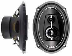 "Logic (ZR690) 500W 6""x9"" 3-Way High Power Speaker, Pair"