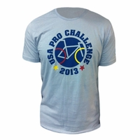 2013 USA Pro Challenge Circle Cycle Tee - Light Blue
