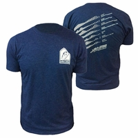 2013 USA Pro Challenge Stage Elevation Blended Tee - Navy